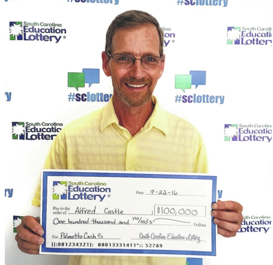 Alfred Castle wins the lottery