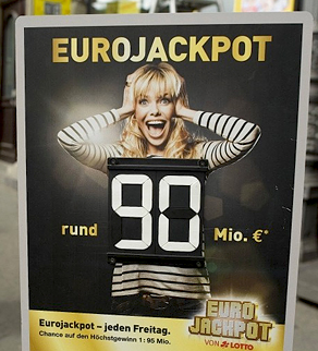 90 million EuroJackpot winners