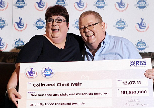 Colin and Chris Weir, biggest EuroMillions lottery winners