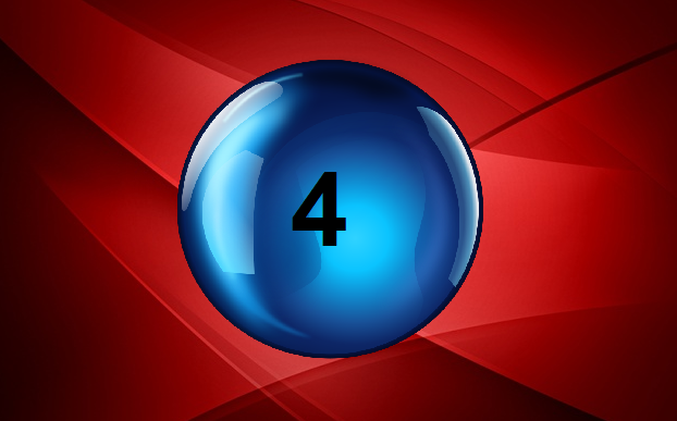Number 4, lucky lotto number 4