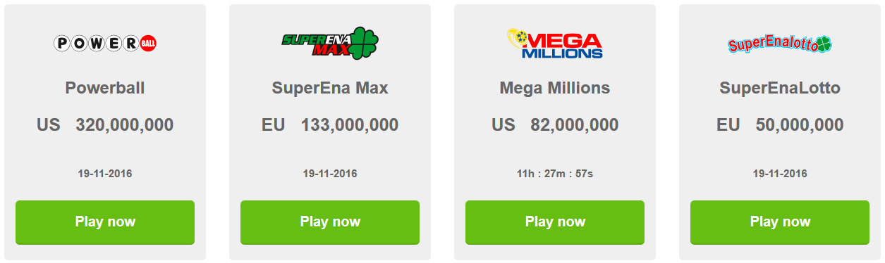 Play the biggest jackpots in the world