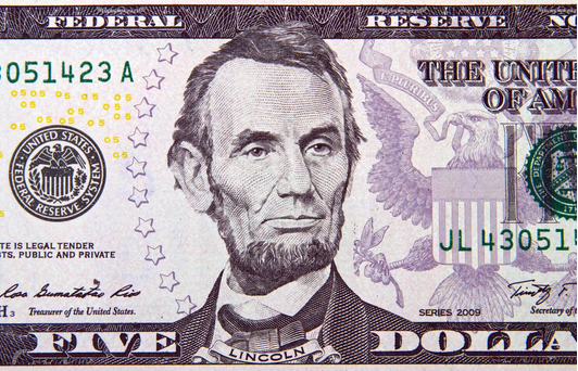 Abe Lincoln, dollar bills