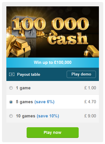 Buy a scratch card at PlayUKLottery online