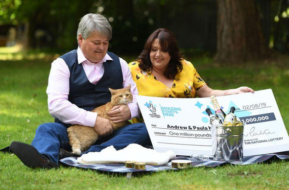 Couple win big on a scratchcard thanks to their cat