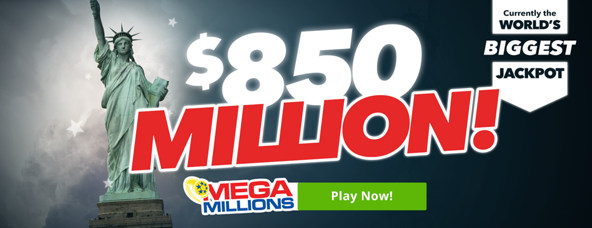 Play for the $850m Mega Millions online