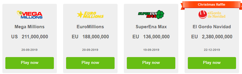Most popular lotteries to play online in 2019