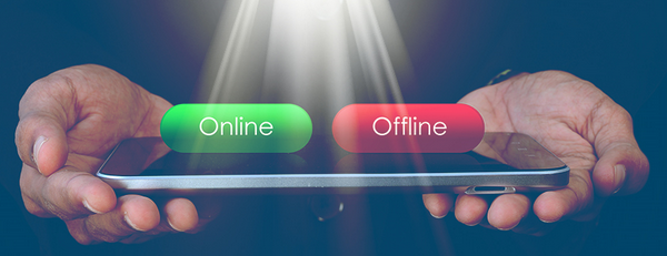Playing the lottery online versus offline