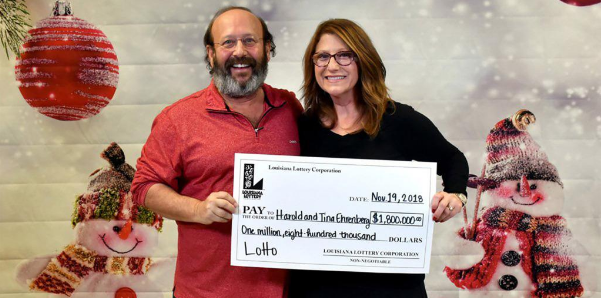 Harold and Tine Ehrenberg, Thanksgiving Powerball lottery winners