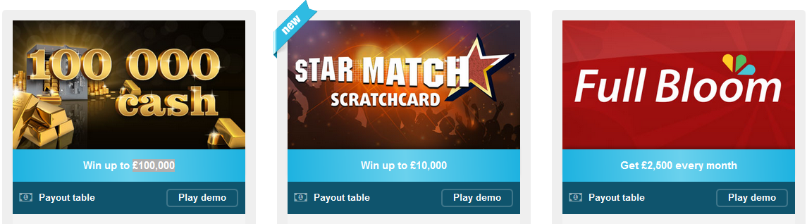 Buy a scratch card online