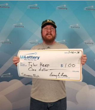 Tyler Heep wins big on the lotto