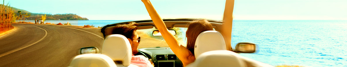 couple, car, highway, hands up, loving life