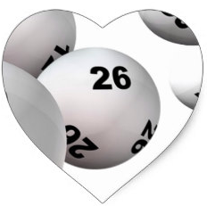 lottery balls in heart