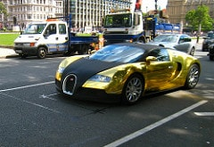 A gold-plated Bugatti Veyron worth $10 million.