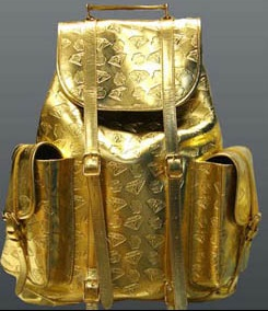 Gold backpack worth $1650